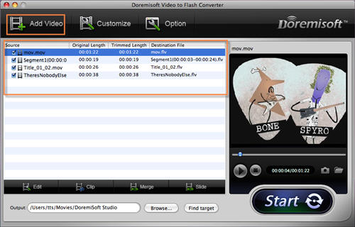 QuickTime to FLV Converter for Mac